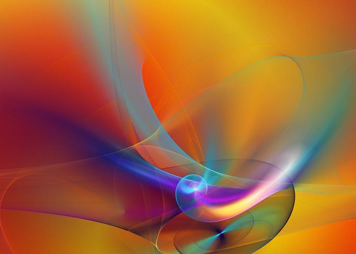 Fine Art Greeting Card featuring the digital art Abstract 110211 by David Lane