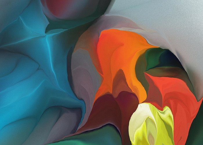 Fine Art Greeting Card featuring the digital art Abstract 122211 by David Lane