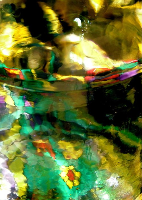 Green Greeting Card featuring the photograph Abstract 1749 by Stephanie Moore