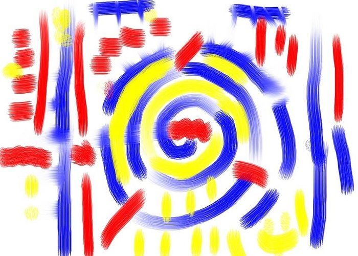 Abstract Greeting Card featuring the painting Abstract 2 by Roger Cummiskey