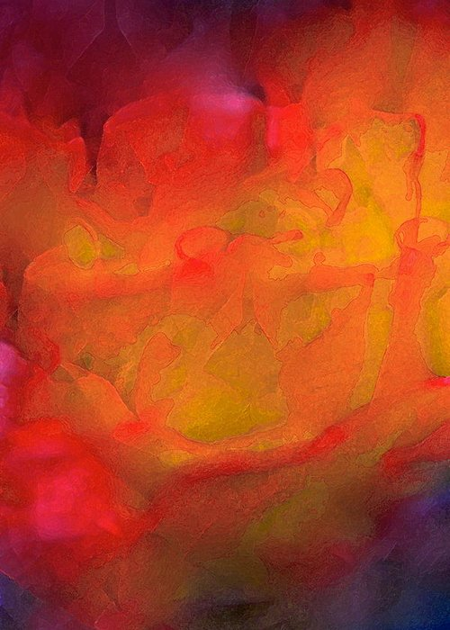 Abstract Greeting Card featuring the photograph Abstract 279 by Pamela Cooper