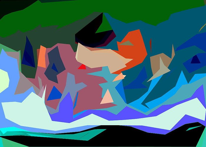 Abstract Greeting Card featuring the photograph Abstract 28 by Burney Lieberman