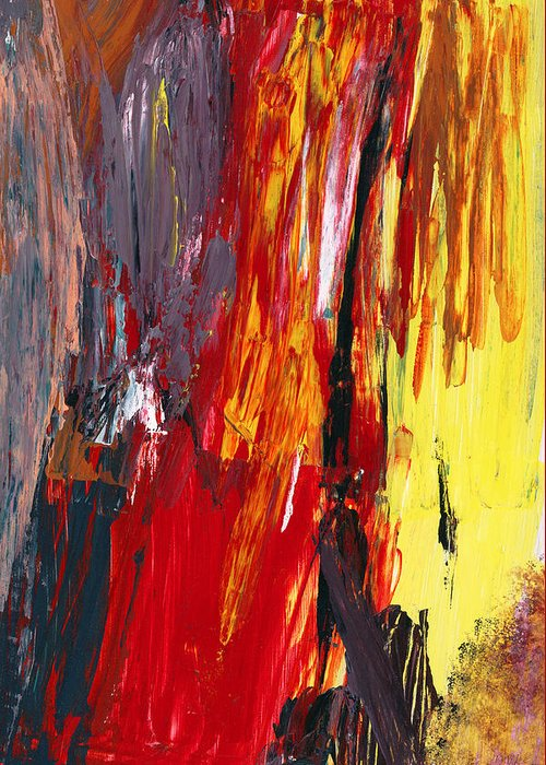 Abstract Greeting Card featuring the photograph Abstract - Acrylic - Rising Power by Mike Savad