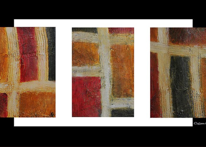 Abstract Collage Greeting Card featuring the digital art Abstract Collage 1 by Xoanxo Cespon