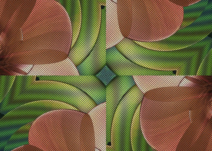 Abstract Greeting Card featuring the digital art Abstract Curves by Deborah Benoit