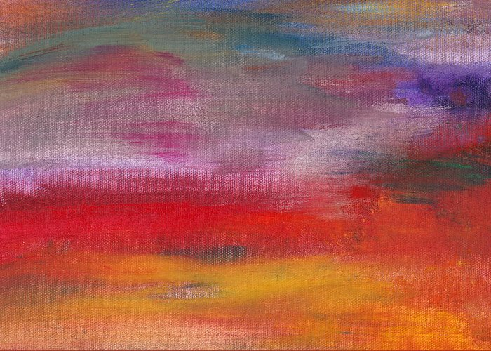 Abstract Greeting Card featuring the photograph Abstract - Guash And Acrylic - Pleasant Dreams by Mike Savad