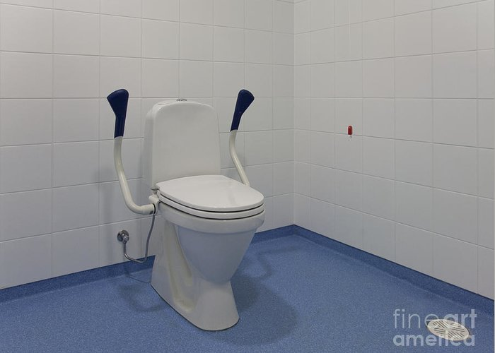 Accessibility Greeting Card featuring the photograph Accessible Toilet by Jaak Nilson