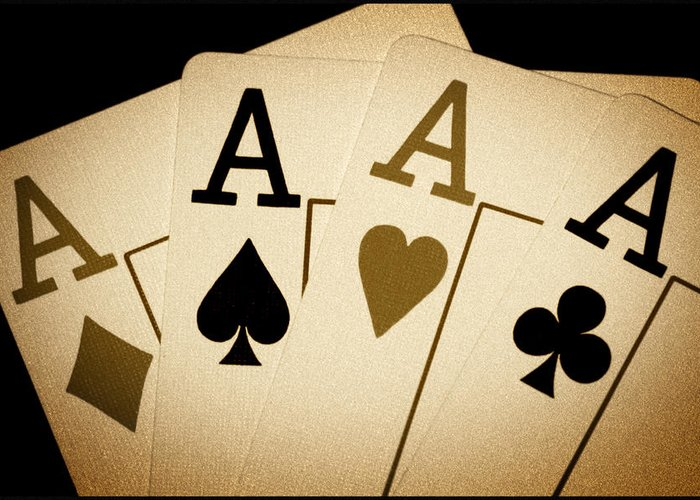 Playing Cards Greeting Card featuring the photograph Aces by Shane Rees