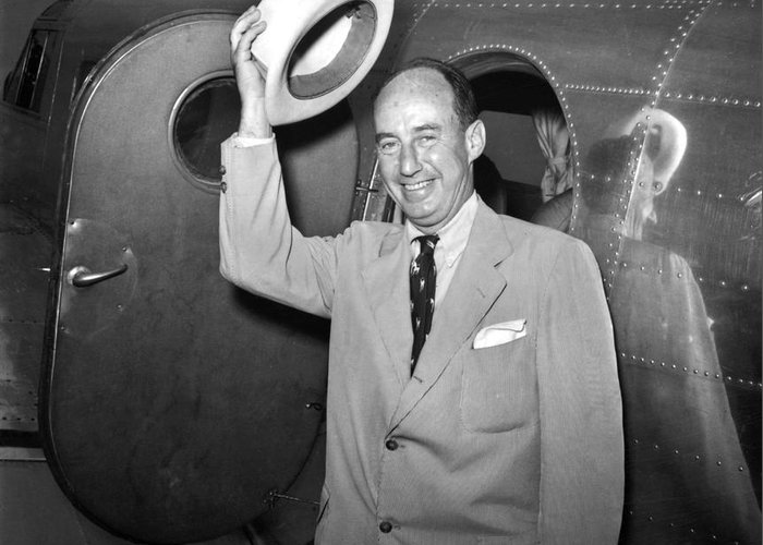 1952 Greeting Card featuring the photograph Adlai Stevenson (1900-1965) by Granger