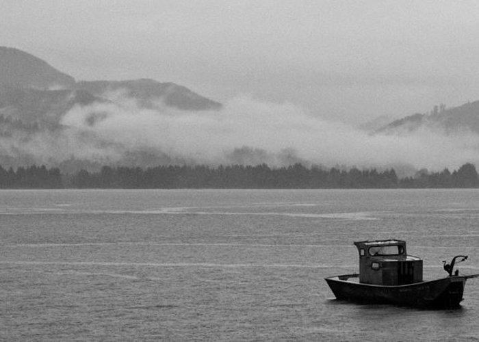 Black & White Greeting Card featuring the photograph Adrift by Peter Tellone