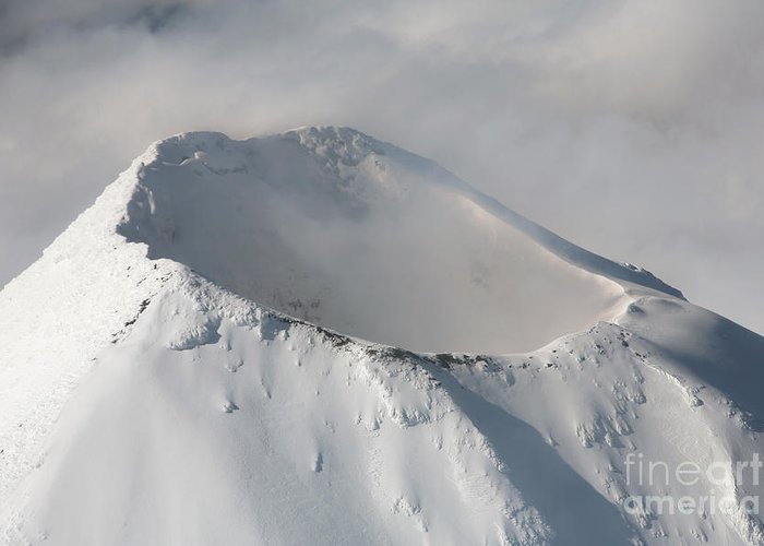 Alaska Greeting Card featuring the photograph Aerial View Of Summit Of Shishaldin by Richard Roscoe