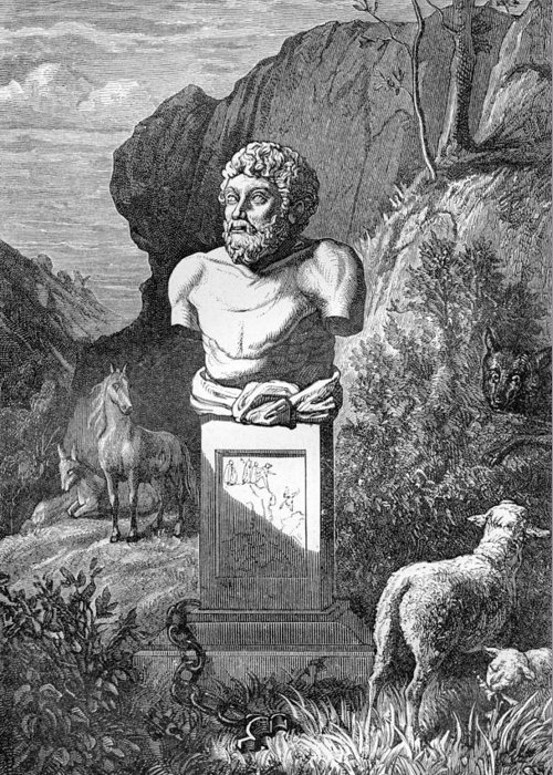 Aesop Greeting Card featuring the photograph Aesop, Ancient Greek Fabulist by