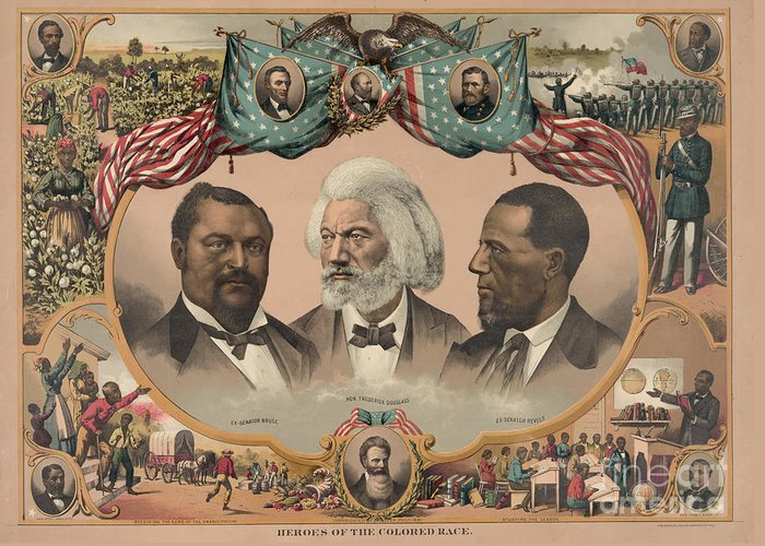1881 Greeting Card featuring the photograph African Americans, C1881 by Granger