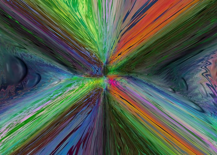 Abstract Greeting Card featuring the digital art After The Rain 8 by Tim Allen