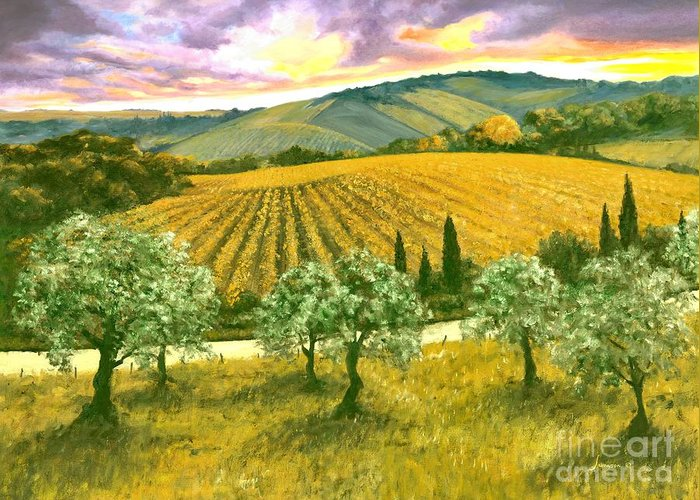 Italy Greeting Card featuring the painting After The Storm Orig. For Sale by Michael Swanson