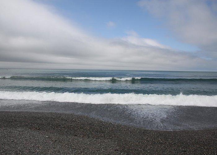 Agate Beach Greeting Card featuring the photograph Agate Beach Surf by Michael Picco