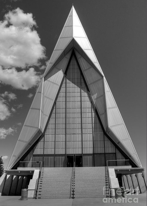 Air Force Academy Greeting Card featuring the photograph Air Force Academy Chapel 1 by David Bearden