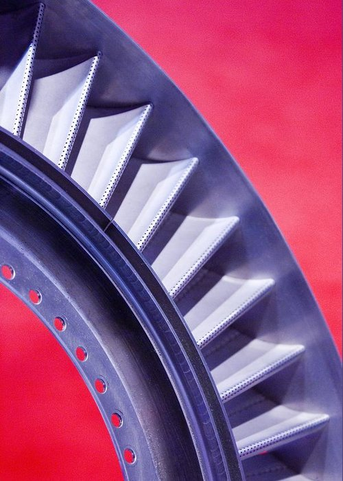 Aerospace Greeting Card featuring the photograph Aircraft Engine Fan Component by Mark Williamson