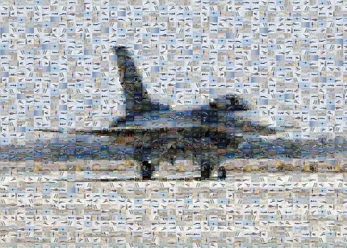 Airforce Greeting Card featuring the photograph Airforce F-4866 Mosaic by Darleen Stry