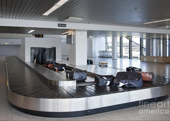Air Travel Greeting Card featuring the photograph Airport Baggage Claim by Jaak Nilson