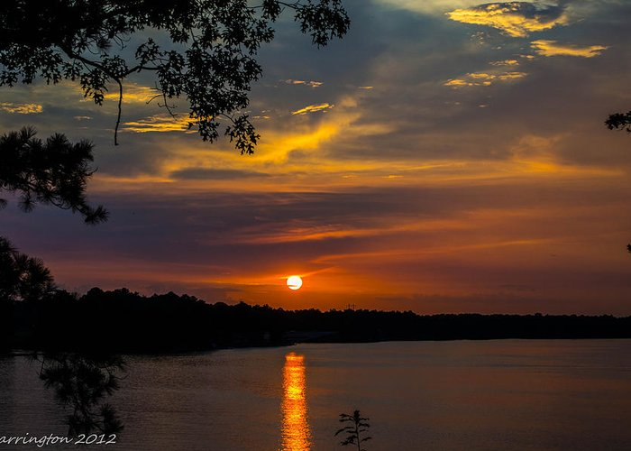 Sunset Greeting Card featuring the photograph Alabama Sunset by Shannon Harrington