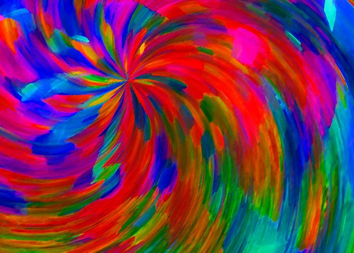 Abstract Greeting Card featuring the digital art Alacrity by ME Kozdron