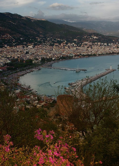 Landscape Greeting Card featuring the painting Alanya by Michael Levchenko
