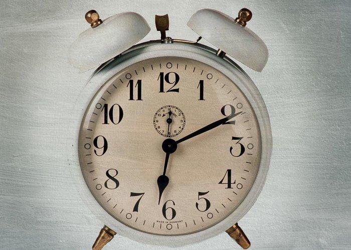 Waking Greeting Card featuring the photograph Alarm Clock by Bernard Jaubert