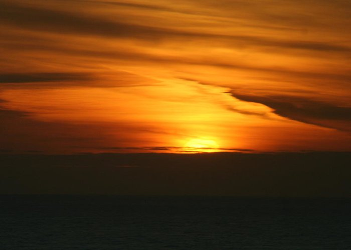 Sun Greeting Card featuring the photograph Alaska Sunset by Elizabet Chacon