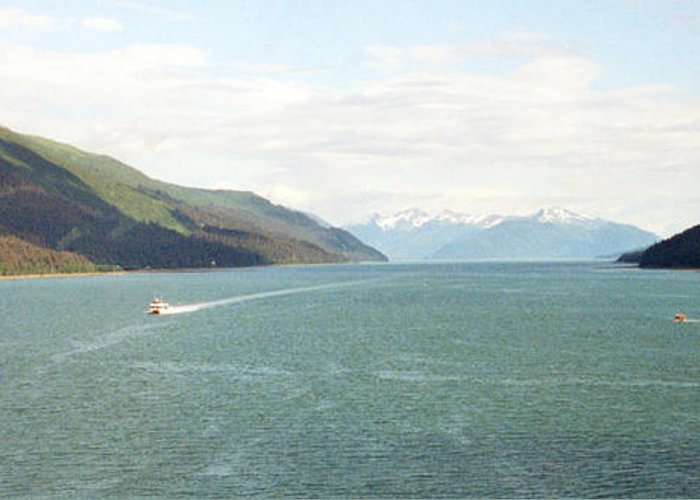 Alaska Photographs Greeting Card featuring the photograph Alaskan Boatride by C Sitton