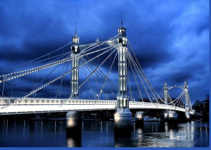 Albert Bridge Greeting Card featuring the photograph Albert Bridge London by Jasna Buncic