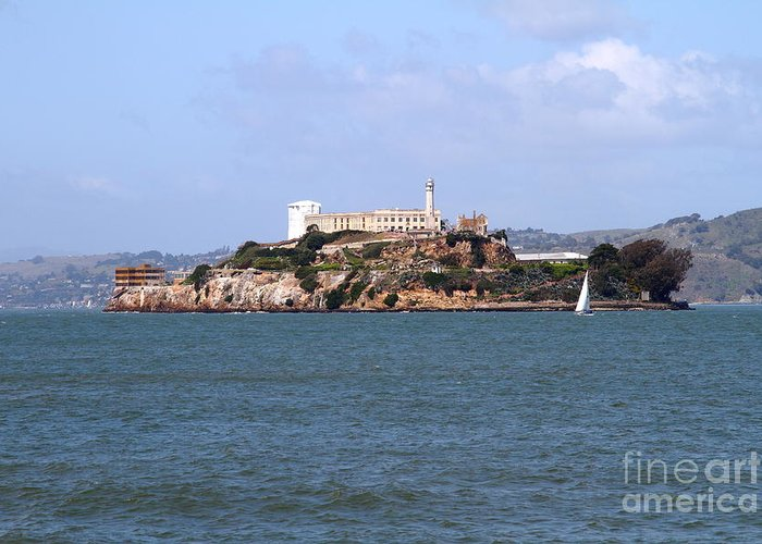 San Francisco Greeting Card featuring the photograph Alcatraz Island In San Francisco California . South Side . 7d14288 by Wingsdomain Art and Photography