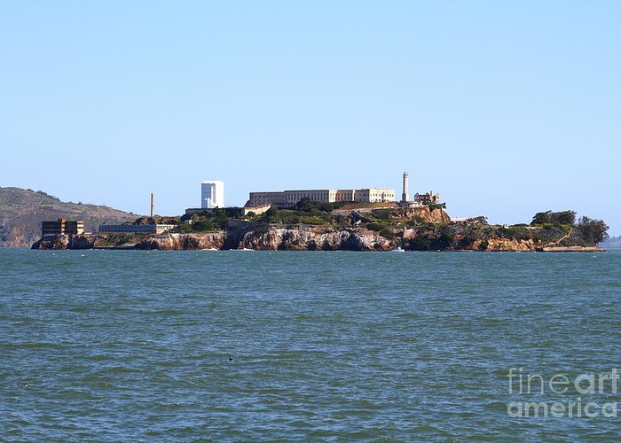 San Francisco Greeting Card featuring the photograph Alcatraz Island In San Francisco California . West Side . 7d14007 by Wingsdomain Art and Photography