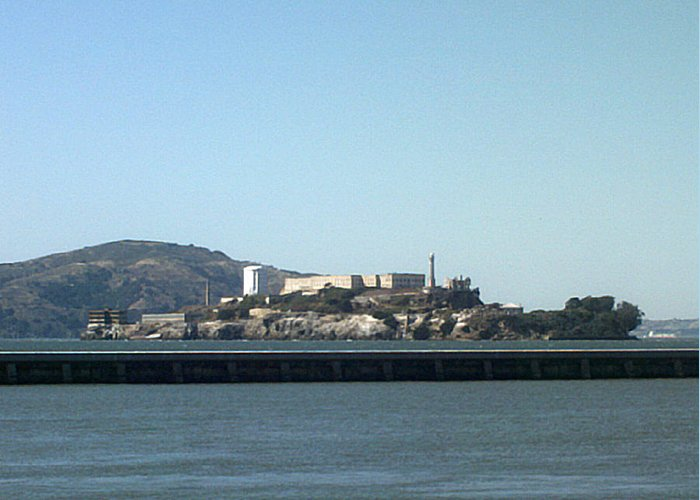 Water Greeting Card featuring the photograph Alcatraz Island by Vanessa Beck