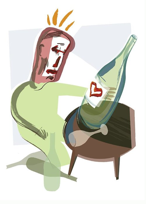 Disease Greeting Card featuring the photograph Alcoholism, Conceptual Artwork by Paul Brown