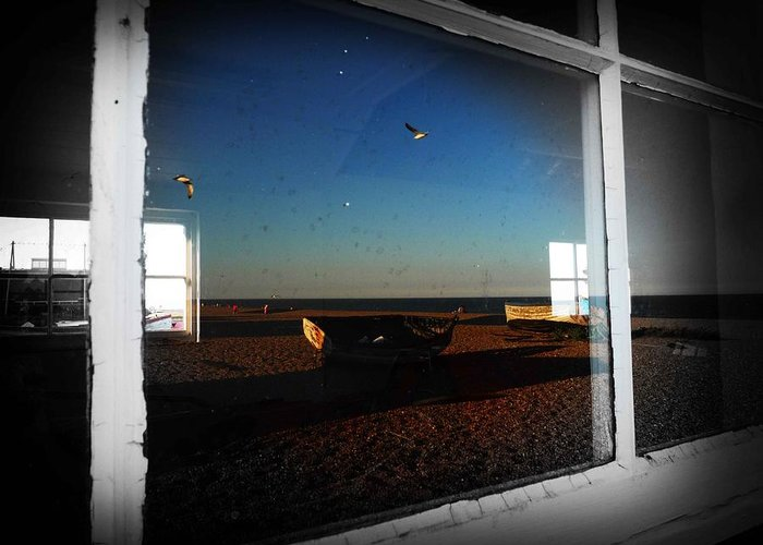 Window Greeting Card featuring the photograph Aldeburgh by Charles Stuart