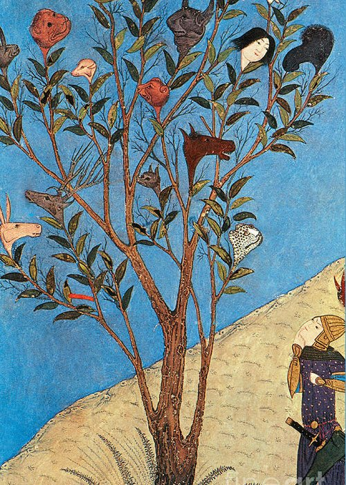 History Greeting Card featuring the photograph Alexander The Great At The Oracular Tree by Photo Researchers