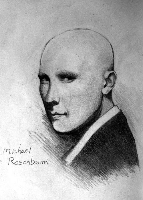 Michael Rosenbaum Greeting Card featuring the drawing Alexander by Ulysses Albert III