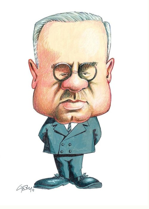 Alfred Adler Greeting Card featuring the photograph Alfred Adler, Austrian Psychiatrist by Gary Brown