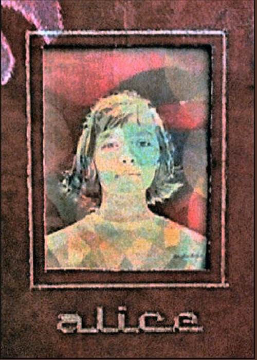 Transparency Greeting Card featuring the painting Alice Kuykendall 1966 by Glenn Bautista