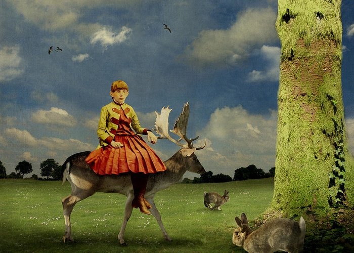 Alice In Wonderland Greeting Card featuring the photograph Alice by Martine Roch