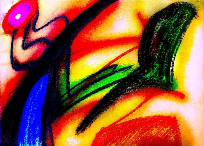 Chalk Greeting Card featuring the digital art Alien Suntan II by Stephanie Margalski