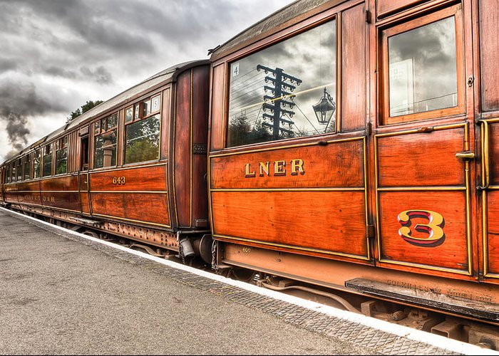 3rd Class Greeting Card featuring the photograph All Aboard by Adrian Evans