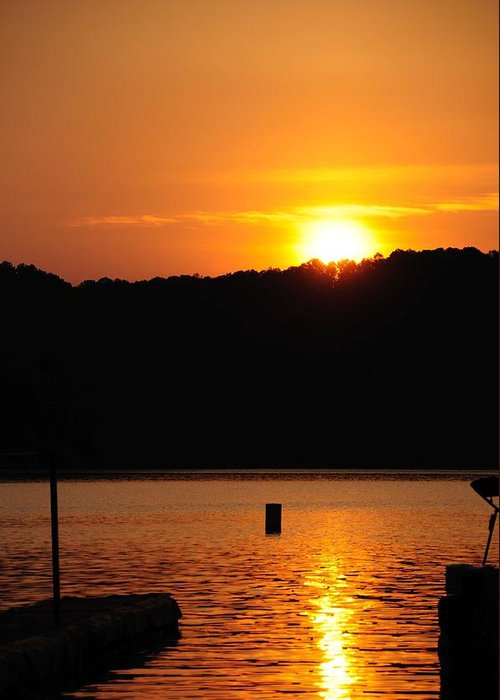 Lake Allatoona Greeting Card featuring the photograph Allatoona Sunset by Michael Womack