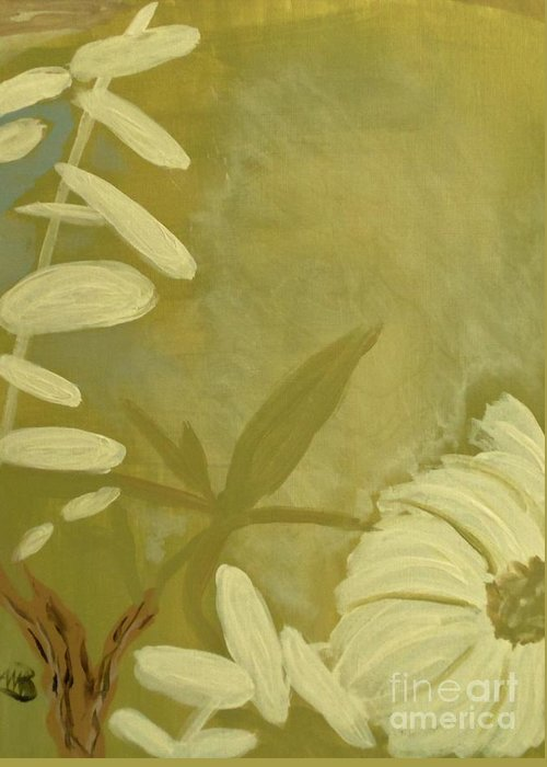 Flower Greeting Card featuring the painting Almost Sumi 1 by Marie Bulger