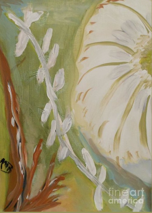 Flower Greeting Card featuring the painting Almost Sumi 2 by Marie Bulger