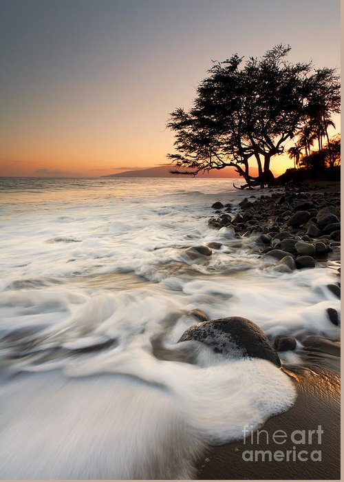 Lahaina Greeting Card featuring the photograph Alone With The Sea by Mike Dawson