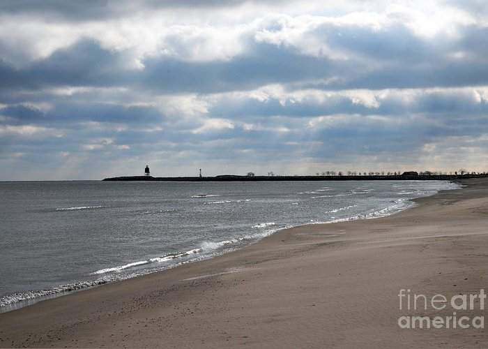 Beach Greeting Card featuring the photograph Along The Shore by Dan Holm