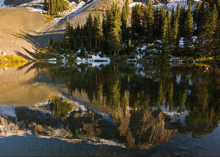 Art Greeting Card featuring the photograph Alta Lakes by Ed Williams