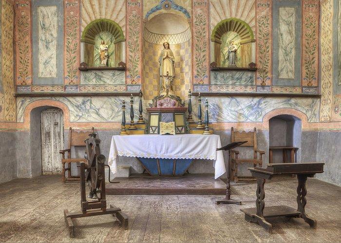 Mission La Purisima Greeting Card featuring the photograph Altar At Mission La Purisima State by Douglas Orton